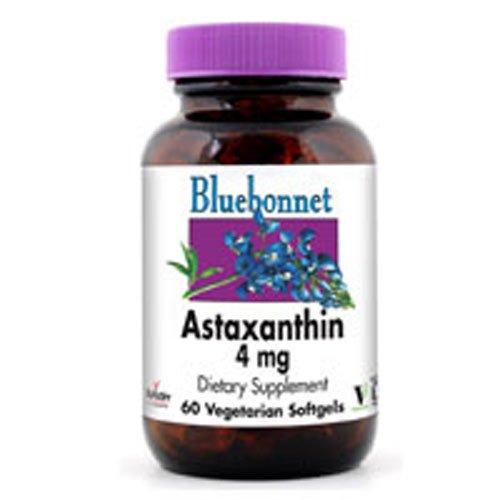 Bluebonnet Nutrition Astaxanthin, 60 V SG 4 Mg(Pack of 3)