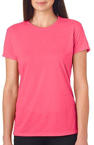 Gildan Ladies/Womens Core Performance Sports Short Sleeve T-Shirt (S) (Safety Pink) ()