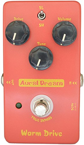 Aural Dream Warm Drive Low-gain Blues 2 models Overdrive Guitar Effect Pedal True Bypass ()