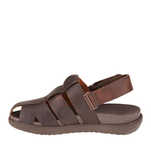 Fitflop Hommes Ffisher Cuir Pêcheur Sandale Chaussures Chocolat
