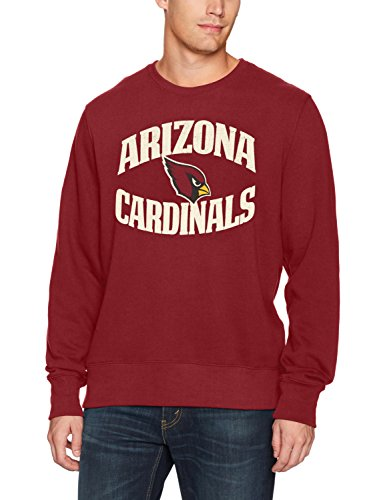 NFL Arizona Cardinals Men's OTS Fleece Crew Distressed, Cardinal, X-Large ()