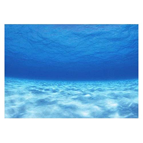 Baosity PVC 3D Adhesive Poster Seawater Image for Fish Tank Backdrop Background - 122x46cm ()