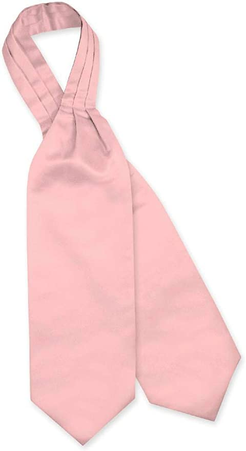 New Vesuvio Napoli Men/'s Polyester Ascot Cravat Necktie Hankie Solid Navy Blue