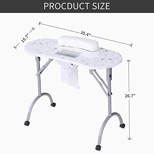Amazon.com: Murtisol - Mesa de manicura portátil plegable ...