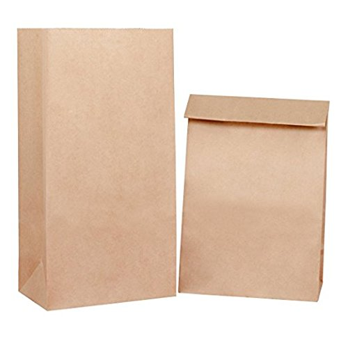 BagDream Brown Paper Lunch Bags Bread Bags #12 7x4.5x13.75