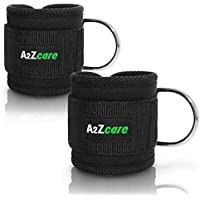 A2ZCARE Padded Ankle Strap for Cable Machines | D-Ring...