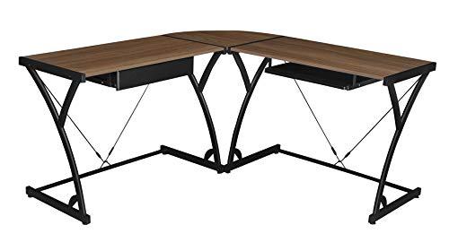 Regency Soho Computer Corner Desk- Mocha Walnut (Corner Desk Custom)