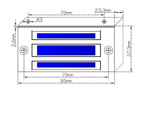 AGPtek 60kg 130LBs Holding Force Electric Magnetic Lock for Door Access Control System Electromagnet Fail-Safe NC Mode by AGPTEK (Image #5)