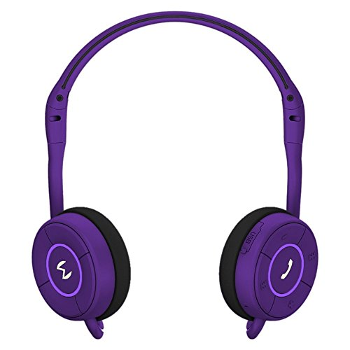 Moudio M100 Wireless Stereo Bluetooth Smart Headphones, Activity Calorie Tracker, Fitness Monitor, Sports Headset, Music Streaming, Hands-free voice calls With Android and IOS APP (purple)