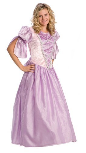 DELUXE Rapunzel Adult Dress Up Costume, Large/X-Large