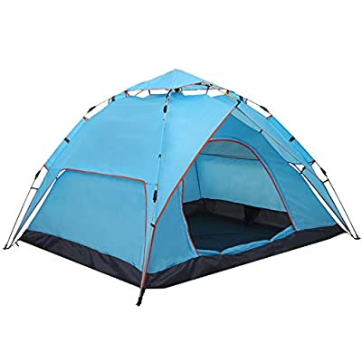 XINQIU Camping Tent for Family Instant Automatic Easy Set Up Tents for Fishing Hiking Camping Double Layer and Waterproof for Convenient Your Travel Beach Vacation