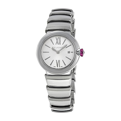 Bvlgari LVCEA Silver Opaline Diamond Dial Ladies Watch 102195