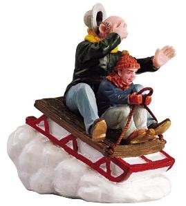 Lemax 52084 Village Collection Accessory - Figurine Sledding with Gramps