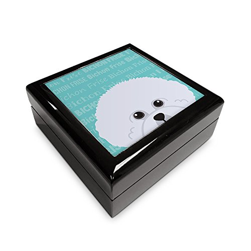 Mystic Sloth Adorable Dog Breed Specific Jewelry/Memory Box (Bichon Frise)