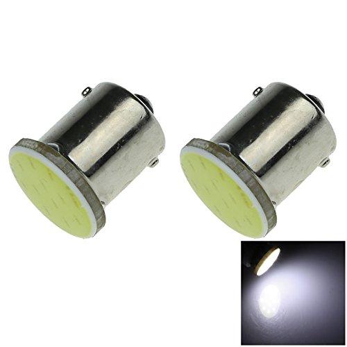 ZHANSHENZHEN White Auto 1156 P21W Single Contact Bayonet Lamp COB LED 1 Emitters DC 12V 1129 1680 3497 98 12821 D070-W (Pack of 2)