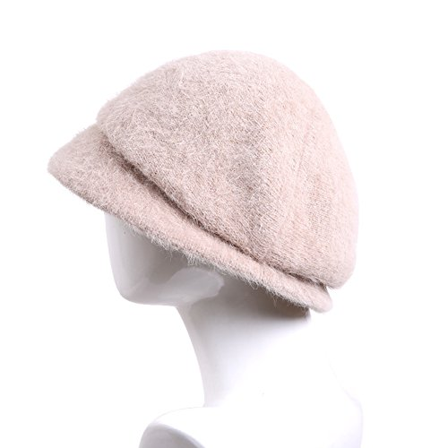 Lady rabbit warm in autumn and winter the header caps/ knit beret-B One Size