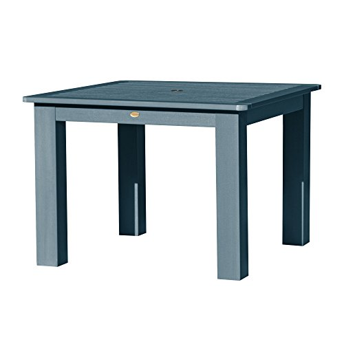 Highwood Lehigh and Weatherly Square Dining Table, 42 by 42-Inch, Nantucket Blue