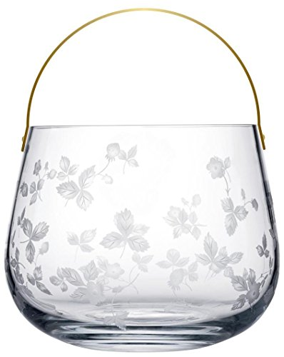 Leaf Footed Cup - Wedgwood Wild Strawberry Glass Ice Bucket Limited Edition, Clear
