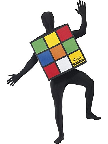 Smiffys Rubiks Cube Adult Costume,Multi,One Size ()