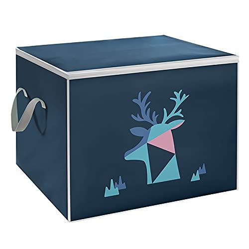 Risaho Aufbewahrungsbox Set (50x45x40cm) Sortierbox Faltbox Kleiderschrank Organizer Organisationssystem Aufbewahrung Kiste für Spielzeug, Büro, Schrank, Zuhause (A)