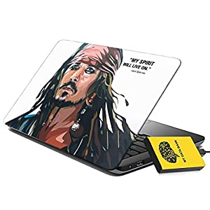 100yellow® Jack Sparrow Gaming Laptop Skin Decal 15.6 Inch for Dell HP Acer Asus Lenovo