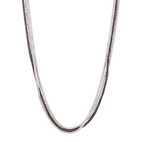 Silpada 'Chain Reaction' Triple-Strand Necklace in Sterling Silver, 20