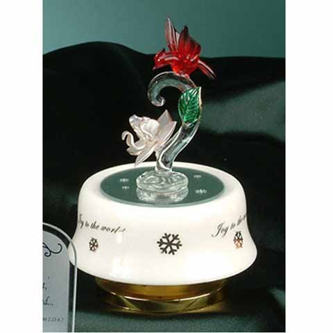 StealStreet SS-UG-PA-4642 White Magnolia Flower with Red Cardinal Bird Music Trinket Box Decor