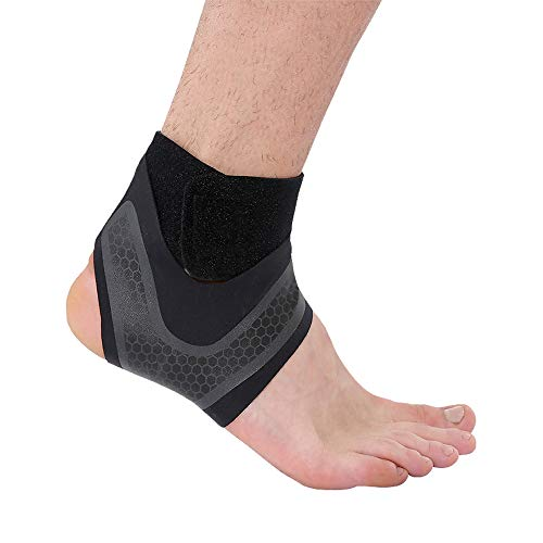 Ankle Brace, Breathable Ankle Support with Anti-Bacterial Fabric, Compression Ankle Wrap for Sports Protect, Ankle Sprain, Plantar Fasciitis, Injury Recovery (Left)