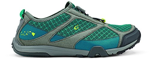 OLUKAI Eleu Trainer Shoe - Women's Sea Green/Charcoal 9