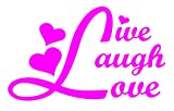 love pink decal - SoCoolDesign Live Laugh Love Pink Car Window Vinyl Decal Sticker 5