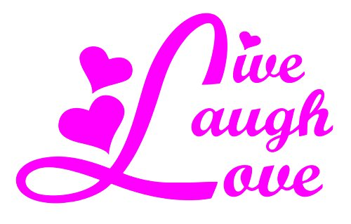 spdecals Live Laugh Love Car Window Vinyl Decal Sticker 5