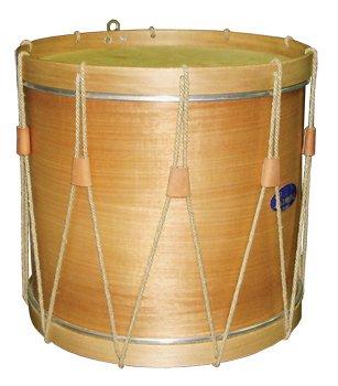 Timbal tradicional de madera, Ø 40.6 cm/16'' x 40 cm altura, cuerda