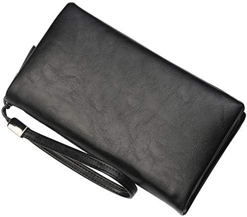 Mode Brieftasche Männer Brieftaschen Armband Kartenhalter Männlichen Handtasche Passdecke Herrenbrieftasche Pu-Leder Geldbörse Brieftasche für Männer, A