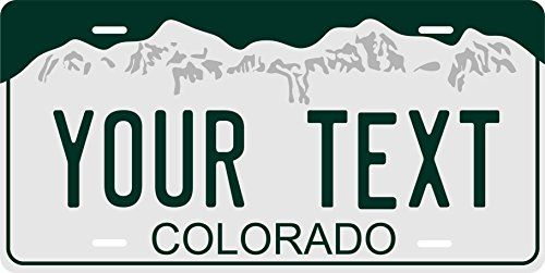 PhotoZoneGa 50 State Personalized Custom Novelty Tag Vehicle Auto Car Bike Bicycle Motorcycle Moped Key Chain License Plate (Colorado 2000) ()