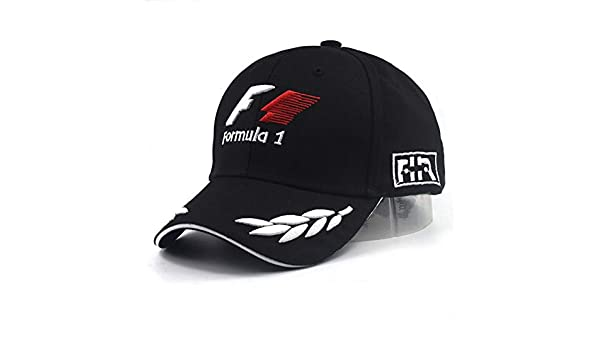 JKYJYJ Hombres Gorras De Béisbol Negro F1 3D Bordado Sombreros ...
