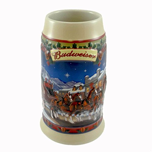 - Budweiser Clydesdales Holiday Stein Old Towne Holiday 2003