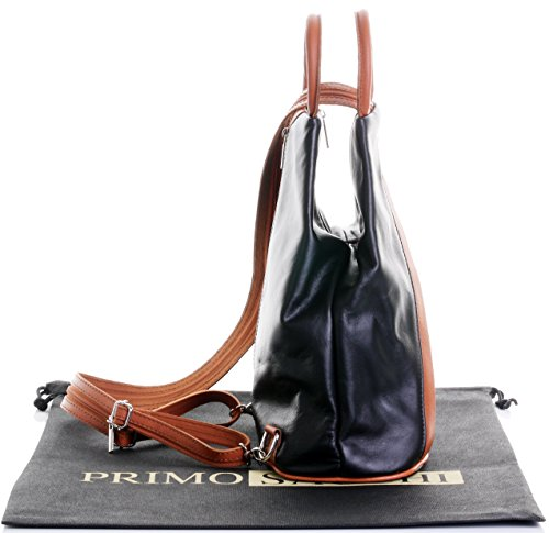 manico di morbida Zaino in marchio con Custodia protezione a italiana marca Black per Tan nappa zaino amp; Borsa tracolla con superiore di FZt0q