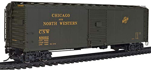 50' AAR Single Door Express Boxcar - Ready to Run - Chicago & North Western(TM) #68002 (Allied Full Cushion Trucks) (Single Boxcar Aar Door)