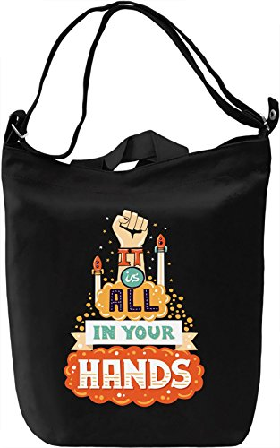 It is all in your hands Borsa Giornaliera Canvas Canvas Day Bag| 100% Premium Cotton Canvas| DTG Printing|
