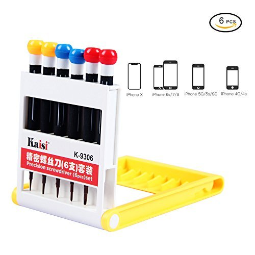 iPhone 8 iPhone 8P Repair Tools Screwdriver Repair Kit iPhone 7 7 Plus 6S suitable for all iPhone Samsung Huawei and Other Devices 6 in 1 Precision Screwdrivers [並行輸入品] B07BBQFHD9
