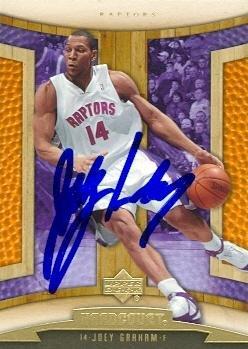 joey-graham-autographed-basketball-card-toronto-raptors-2006-upper-deck-harcourt-no93-rookie