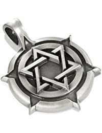 Star of David Shield, Special Jewish Pendant, Including a Black Choker