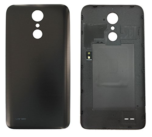 Battery Housing Door Cover Back Case Replacement for LG K20 Plus / LV5 M250 / K10 2017 / K20 V/Harmony/ X400 Smooth Material (Black)