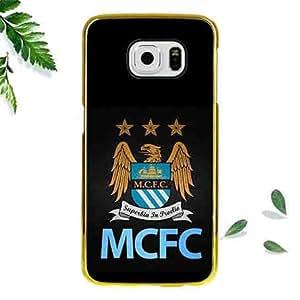 Samsung Galaxy S6 Edge Case Manchester City Hard Protective Cover Skin Stylish Design Samsung S6 Edge Case