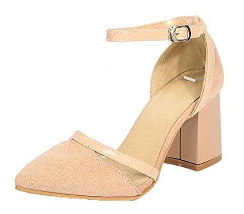 fibbia con tacco alto Aalardom Women sandali sintetico rosa qPIxqX6