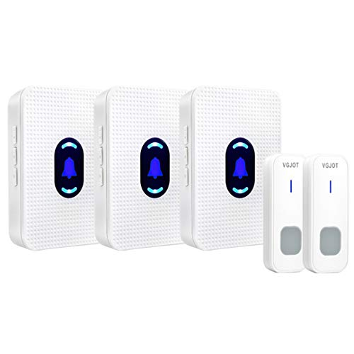 [해외]PROKMIN Wireless Doorbell Electrical Smart Wireless Doorbell Outdoor Doorbells Chime 55 Music 2 Button 3 Receiver EU / PROKMIN Wireless Doorbell Electrical Smart Wireless Doorbell Outdoor Doorbells Chime 55 Music 2 Button 3 Receive...