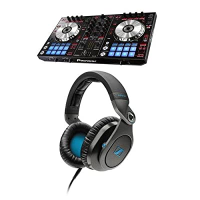 Pioneer Electronics DDJ-SR 2-Channel Performance DJ Controller - Bundle With Sennheiser HD8 DJ Closed Pro Headphones for DJ Applications
