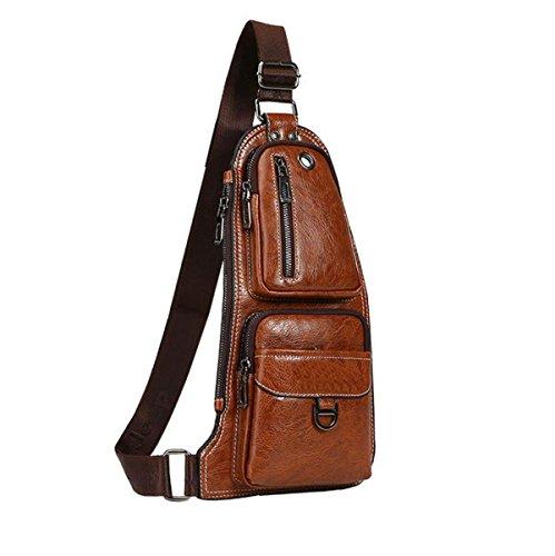 Bag Men's Breasts Slanting Sports Wild Brown Shoulder Fashion Casual qUXd1wCq