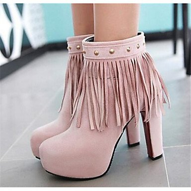 Casual Women's Boots 5in Black amp; PU Comfort Winter Fall Blushing amp;xuezi Gll over Pink Black n0ZxqwE5E