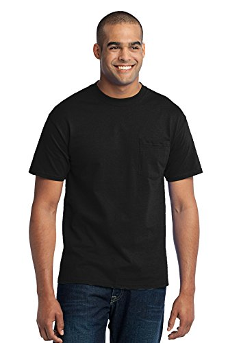 Port & Company Men's 50/50 Cotton/Poly T Shirt with Pocket